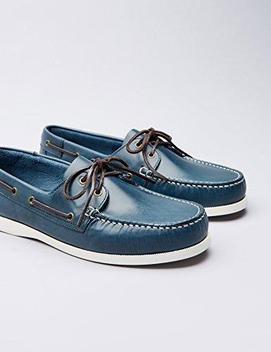Homme Chaussures Cuir Bateau Bleu En Find w0HqI8x