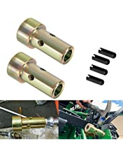 Pair of Cat 1 Quick Hitch Adapter Bushings Set for Category I 3-Point Tractors Use with Quick Hitch System