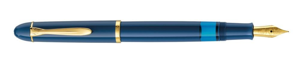 Pelikan Special Edition stilografica a stantuffo M120 Piuma Blu reale molla M Faltschachtel blu reale