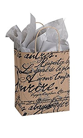 Count of 25 Medium Paris Script Paper Shopper 8â? x 4 ½â? x 10 (Paris Shopper)