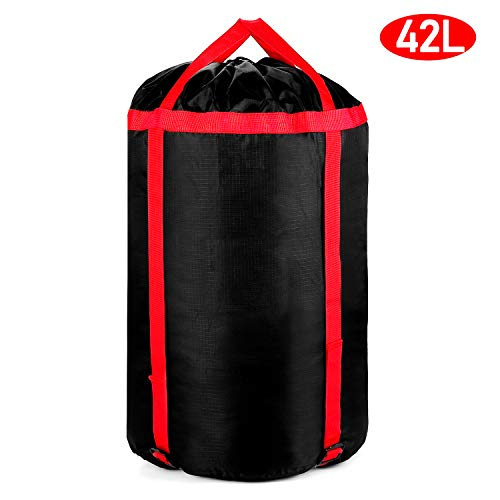Compression Stuff Sack Storage Bag - Oxford Fabric Sleeping Bag Storage Sack 42L Large Lightweight Organizer Water Resistant Tearproof for Camping Hiking Backpacking Travelling Mountaineering Outdoor