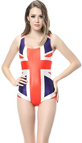 Thenice Women's Fashion Sexy One-piece Swimsuits Bikini (United Kingdom Flag)