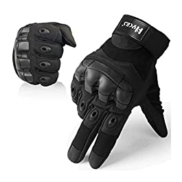 Hykes Full Finger Riding Bike Gloves with Touch proof, protective off-road Motorbike Motorcycle Racing Driving Hard Case…