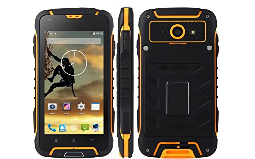 Futuretech® F6 IP68 Waterproof Dustproof Shakeproof Smartphone Rugged Android 4.4 Phone Mtk6582w, Quad Core, 1.3ghz; 1GB RAM+8GM ROM WIFI 3G Unlock Smartphone GSM/WCDMA Built-in GPS + Compass Outdoor Hiking Traveling Smartphone (Yellow)