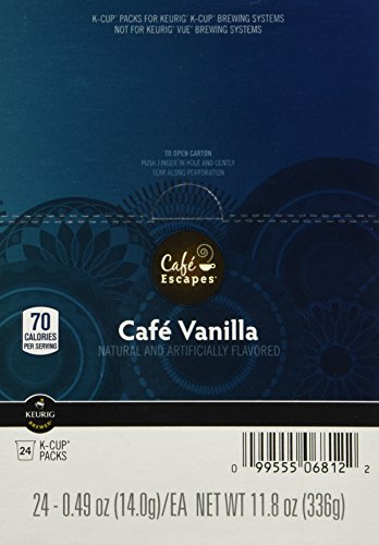(Cafe Escapes Keurig K Cups, Vanilla, 48 Count)