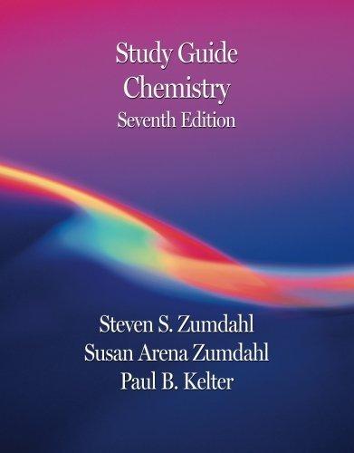 Study Guide for Zumdahl/Zumdahl's Chemistry, 7th 7th edition by Zumdahl, Steven S., Zumdahl, Susan A. (2006) Paperback (Chemistry Book 7th Edition)