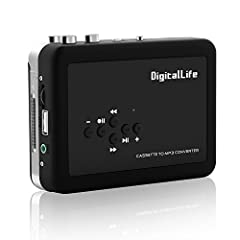 V.TOP Portable Cassette Player Tape Convertor to MP3 via USB -Portable Walkman/Music Player/ Music Digitizer (Auto-Reverse) --Tape Player Captures,awaken your memory of the past, awaken the classic music. The V.TOP USB Cassette Player is a po...