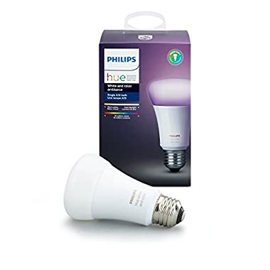 Philips Hue White and Color Ambiance 3rd Generation A19 10W Equivalent Dimmable LED Smart Bulb (Latest Model, Compatible with Amazon Alexa, Apple HomeKit, and Google Assistant)