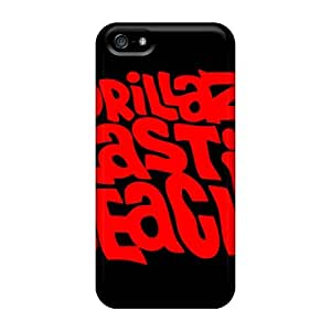 Shock Absorption Hard Phone Cover For Iphone 5/5s (qMW4311hUrR) Support Personal Customs Realistic Gorillaz Band Pictures