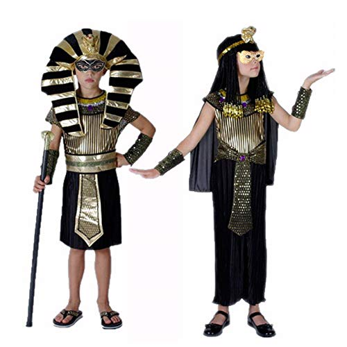Kids Egyptian Costume Costume Diy Halloween Costumes Boy Girl Ancient Egypt Egyptian Pharaoh Cleopatra Prince Princess Costume for Kid Party Holiday DIY Decor (Random) for $<!--$37.99-->