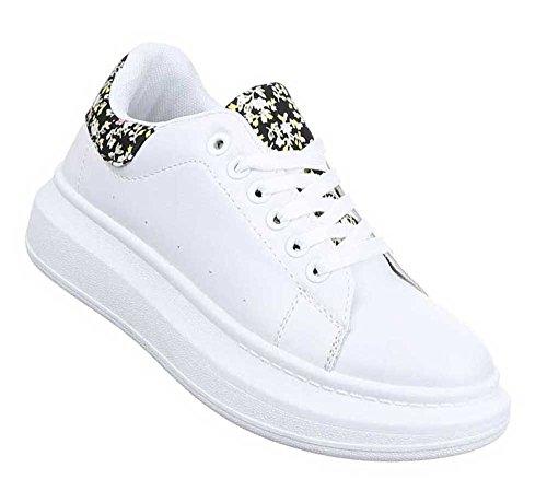 Damen Freizeitschuhe Schuhe Sneakers Streetwear Weiß Multi 38