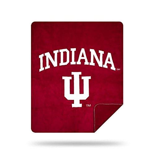 Officially Licensed NCAA Indiana Hoosiers Denali Silver Knit Throw Blanket, Red, 60