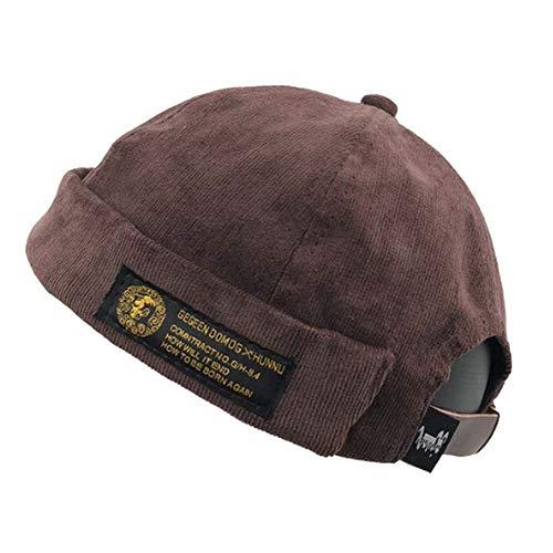 - Clape Watch Cap Work Beanie Corduroy Docker Leon Brimless Hat Rolled Cuff Harbour Hat Light Purple