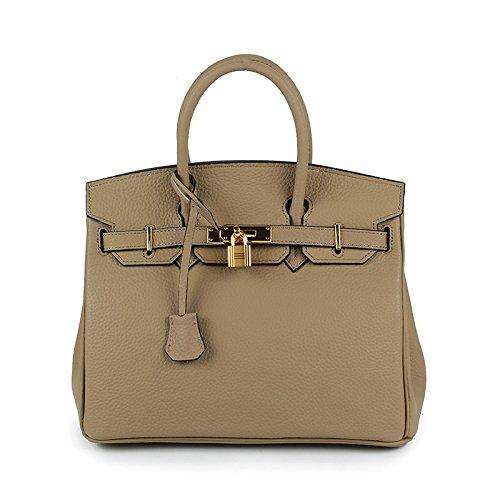 main Femmes Femmes Faux Box Khaki30x17x23cm à Tote Designer Sacs Sacs Top Bag Femelle Hand AASSDDFF Pour Dames Lock Véritable Sacs Crossbody luxe de Rn6854Xq