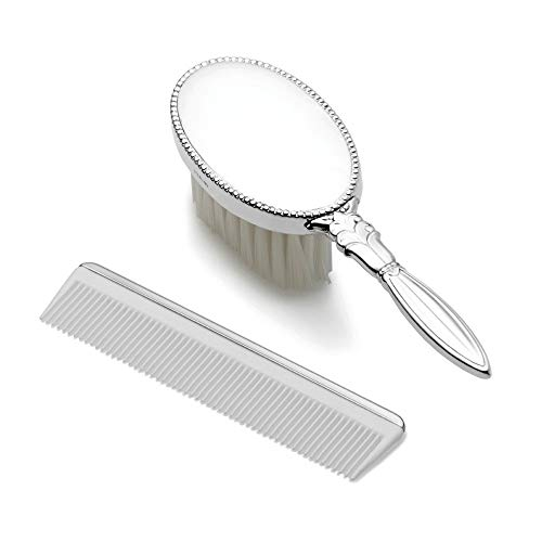 925 Sterling Silver Gift Boxed Girls Comb Brush Set Baby Fine Jewelry For Women Gifts For Her