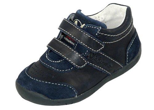 Naturino - Zapatos de cordones de cuero para niño azul - Blau (Navy-Bleu)