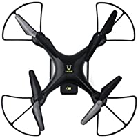 Owill Wide Angle Lens 720P HD Camera Quadcopter RC Drone WiFi FPV 3.7V 1600Mah Battery for Long Flying Time (Black)