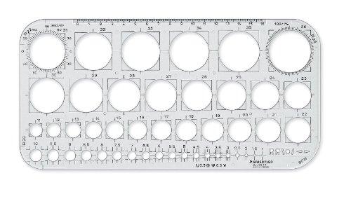 Staedtler 576 01 F Mars Kreisschablone Transparent