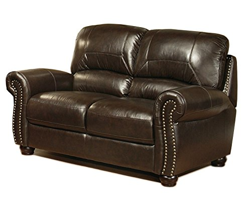 Abbyson Living Broadway Italian Leather Sofa