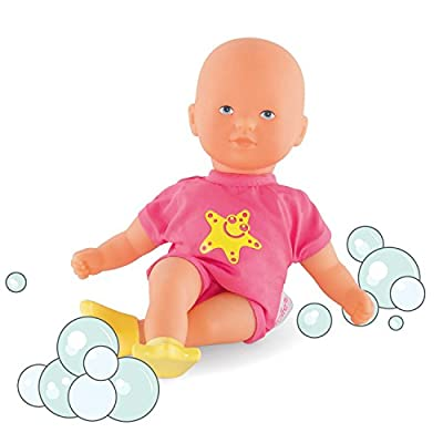 Corolle Mon Premier Poupon Mini Bath Pink Toy Baby Doll: Toys & Games