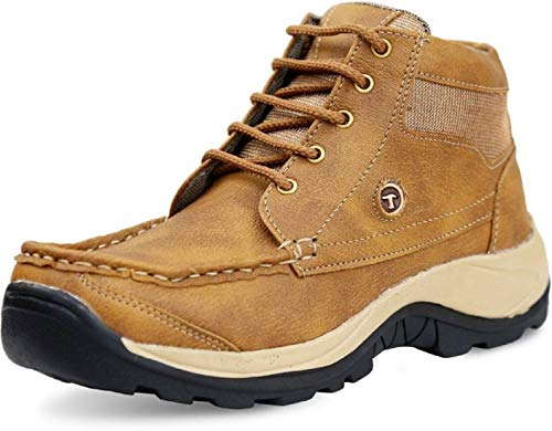 AADI Men #39;s Tan Synthetic Leather Outdoor Casual Shoes