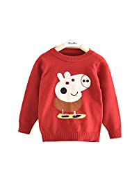 Lemonkid Trendy Kids Lovely Cotton Peppa Pig Pattern Customized Pullover Sweater