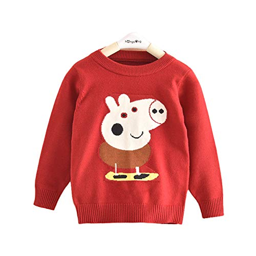 Lemonkid Trendy Kids Lovely Cotton Peppa Pig Pattern Customized Pullover Sweater 100cm/ fit 2-3 T by Lemonkid® (Image #5)