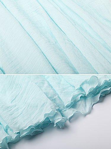 Casual En Taille Bleu Femme Boheme Elastique De Coton Dress Tour Ochenta Jupe Eau Lin 8q0Rwx4