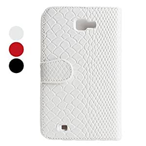 Fish Skin Pattern PU Leather Case for Samsung i9220 (Assorted Colors) --- COLOR:Gray