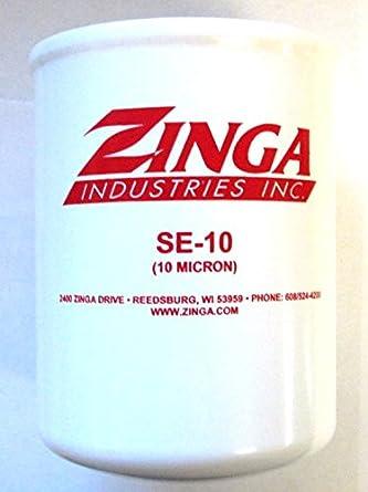 za se-10 - zinga spin on filter 10 micron 1-1/2