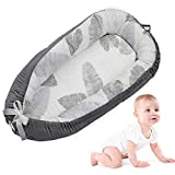 Baby Lounger, LEEGOAL Portable Super Soft and Breathable Newborn Infant Bassinet, Comfortable