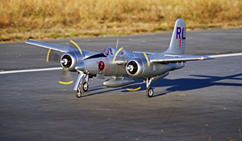 FMS F7F Tiger Cat 1700mm (66.9″) Wingspan Twin Engines RC Airplane Silver 6CH Warbird 6S PNP (No Radio, battery, charger)