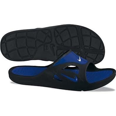 New Nike First String Slide Blk/Blue Mens (15.0, Black/ Varsity Royal)