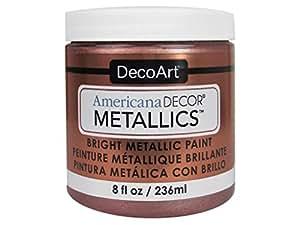 Decoart DECADMTL-36.3 Ameri Deco Mtlc 8oz Rose Gold Americana Decor Metallics 8oz Rose Gold