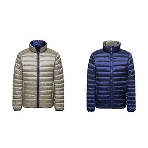 Jacket Warm Double Boys Collar Jacket Streetwear Jacket Parka Winter Light Coat Quilted Men's Jacket Coat Jacket Down Navyblue Winter Winter Side Autumn Stand Urtra 57Yzw
