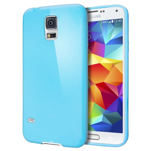 Cimo [SLIM GRIP] Samsung Galaxy S5 Case Premium Flexible TPU Cover for Galaxy S5 / Galaxy SV / Galaxy S V (2014) - Blue