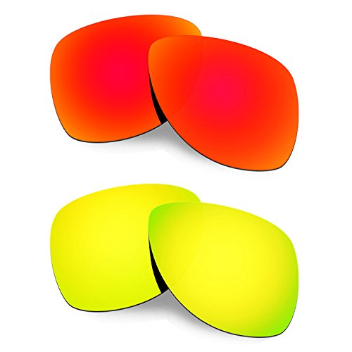 Hkuco Mens Replacement Lenses For Oakley Dispatch 2 Red/24K Gold - Lenses Oakley Replacement Dispatch 2
