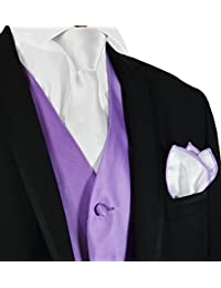 Solid Mens Tuxedo Vest, Tie and Pocket Square