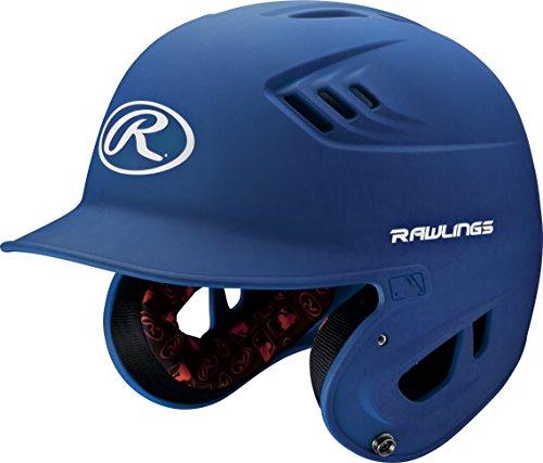 Royal Blue Baseball Batting Helmet - Rawlings R16 Series Matte Batting Helmet, Royal, Senior