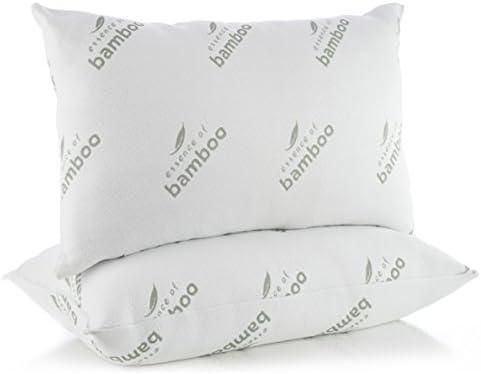 48 x 74 cm como plum/ón y relleno de seda morera SUFUEE algod/ón Juego de 2 almohadas alternativas para dormir funda de algod/ón 100/% con refuerzo ultra suave