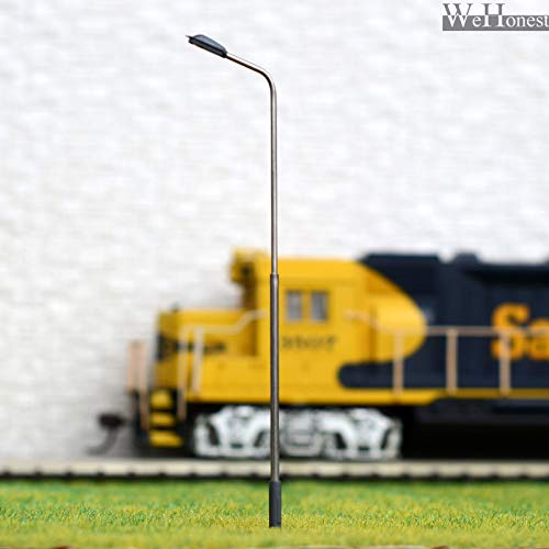 FidgetKute 10 x OO / HO Scale Model Train Lamps Railroad Lamp Post Led Street Lights QD100W Show One Size (X Oo)