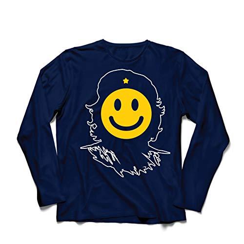 lepni.me Men's T-Shirt Anti-Communism, Political Protest Che Guevara Emoji (Small Blue Multi Color) for $<!--$16.04-->