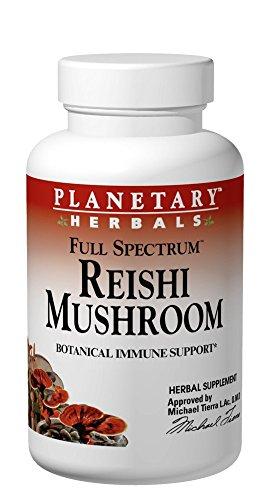 Planetary Herbals Full Spectrum Reishi Mushroom Tablets, 460 mg, 50 Count (Full Spectrum Reishi Mushroom)