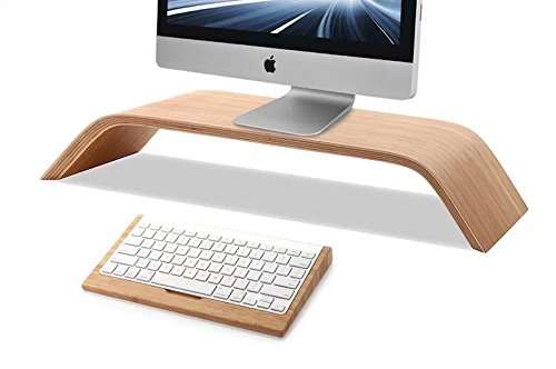 Samdi Wooden Monitor Stand, Riser Stand, Shelf Stand for all iMac and other Computers LCD Monitors. See eye-to-eye with your Monitors