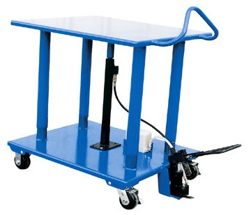Stainless Steel Work Table - BHT Series; Platform Size (W x L): 24'' x 36''; Capacity (LBS): 6,000; Service Range: 54'' to 36''; Number of Posts: 4; Caster Type: 6'' x 2-1/2'' Phenolic