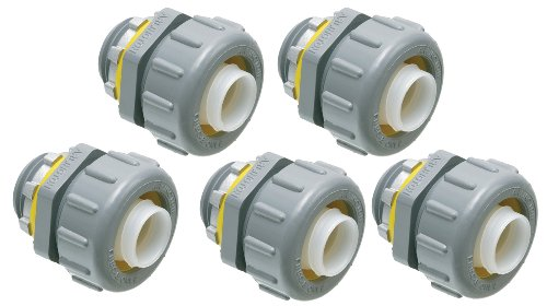 (Arlington NMLT75-5 Non-Metallic 3/4-Inch Straight Liquid-Tight Connector, 5-Pack)