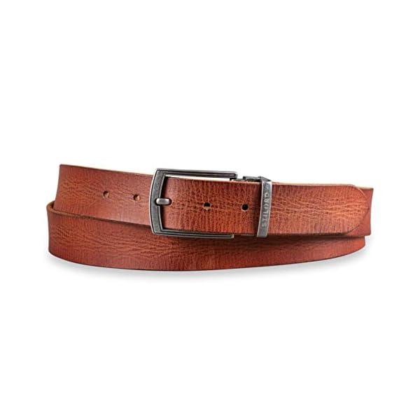 STILORD Cintura Pelle Marrone da Uomo Donna Universale Accorciabile Vintage in Vero Cuoio con Confezione Regalo Look Usato per Jeans Look Casual Business 34 mm