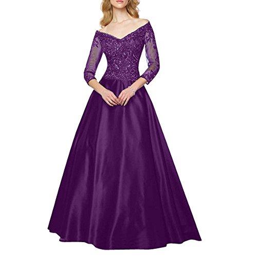 Glamour Abendkleider Ballkleider V Braut Promkleider Lang Marie Partykleider La Ausschnitt Schwarz Traube Rock BwxE0OWFqY