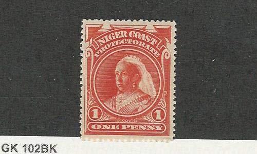 Niger Coast, Postage Stamp, 44 Mint NH, 1894 Queen Victoria, JFZ