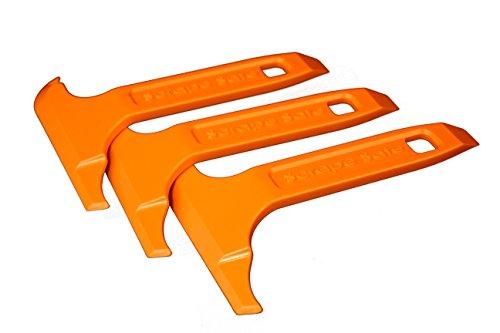 Scrape Safe - Non-Damaging Plastic Multi-Edged Scraper Tool (Pack of 3, Orange)